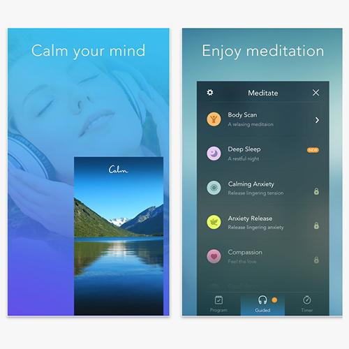 Calm app, relaxation app