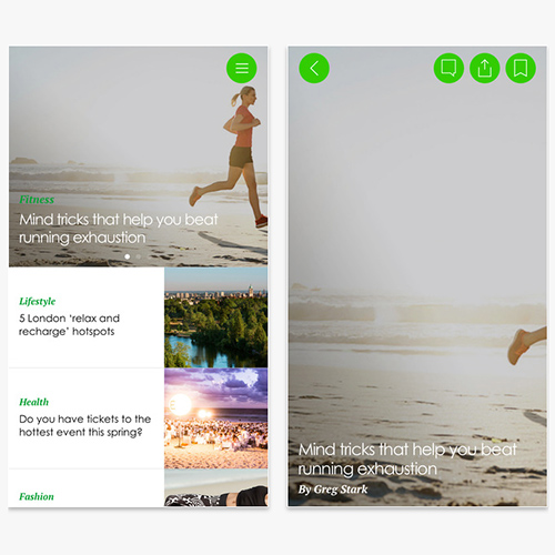 Sporteluxe app, health and fitness app