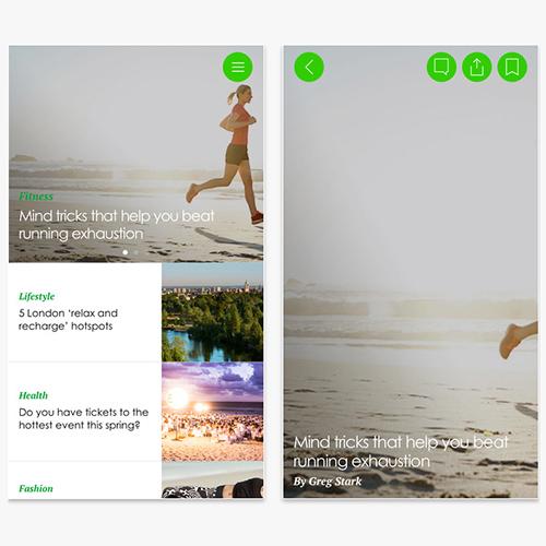 Sporteluxe app, health and fitness app