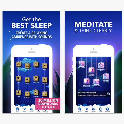 relaxation apps, sleep apps