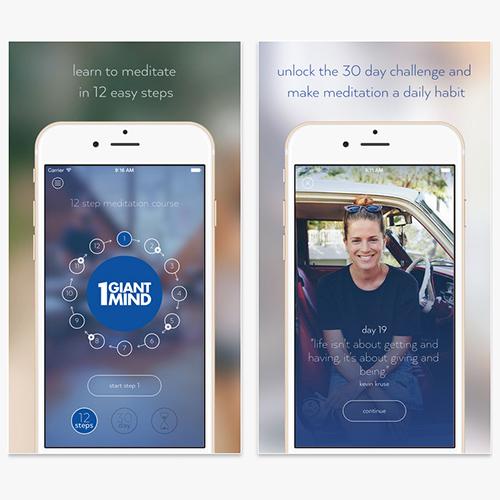 Meditation app, One Giant Mind app