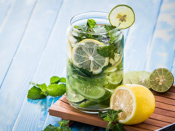 foods good for digestion, cucumber, lemon, cucumber water, infused water