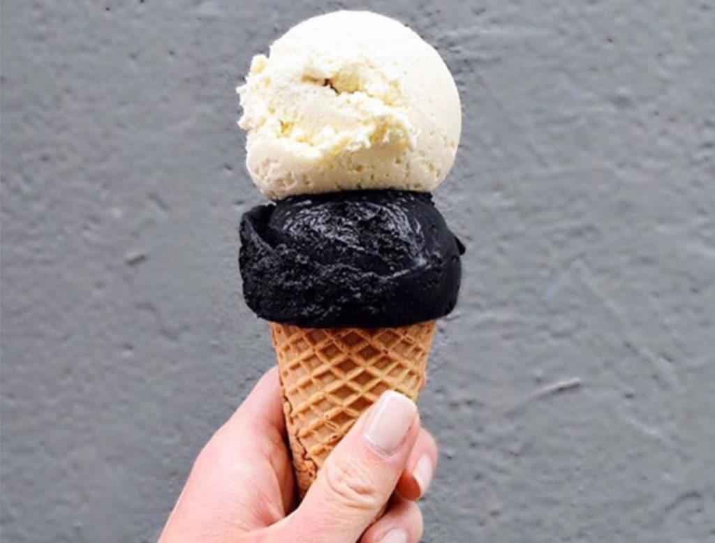 Black Charcoal Ice Cream