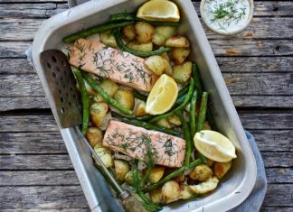 One Tray Salmon Bake, The Cook's grocer, salmon