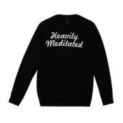YogaRX Heavily Meditated, yoga jumper, black jumper