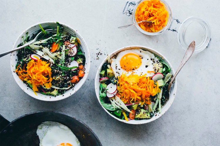 brekkie bowl, buddha bowl, hippie bowl, healthy lunch, salad lunch