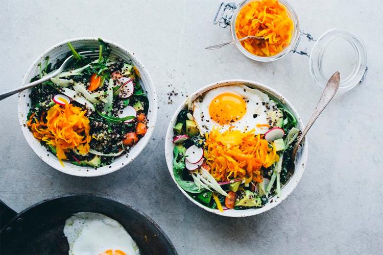 brekkie bowl, buddha bowl, hippie bowl, healthy lunch, salad lunch