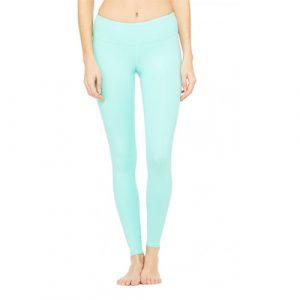 Mint tights, yoga tights, Alo Yoga mint tights, turquoise tights