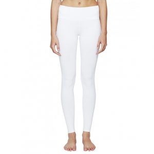 Hipwidth tights, white long yoga tights