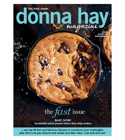 Donna Hay Magazine, seared salmon, green tea noodles
