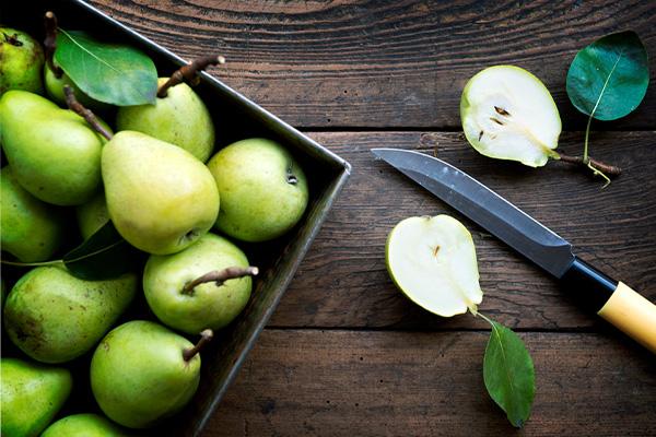 Pears, gut health