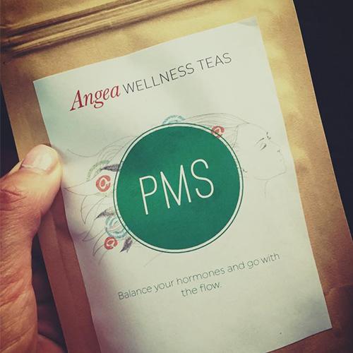 PMS tea, Angea wellness teas