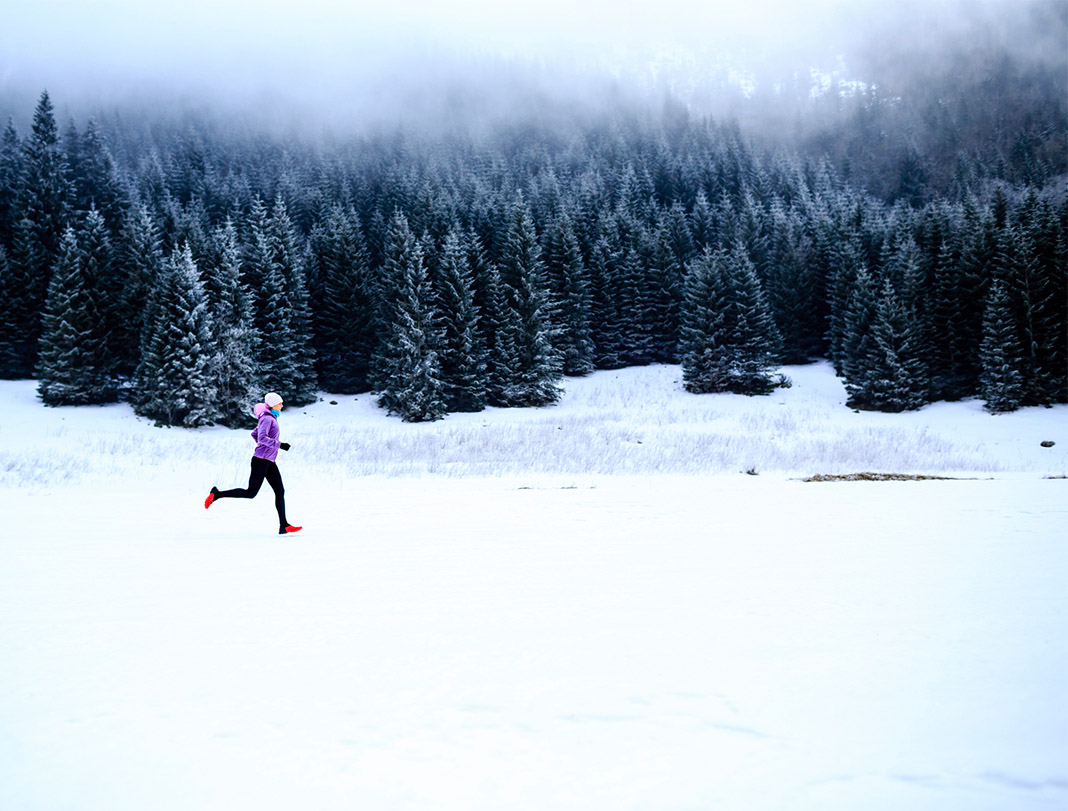running in snow, winter workout, winter,