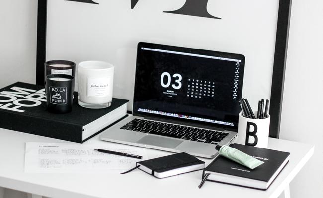 an organised life, home office, desk inspiration, organisation