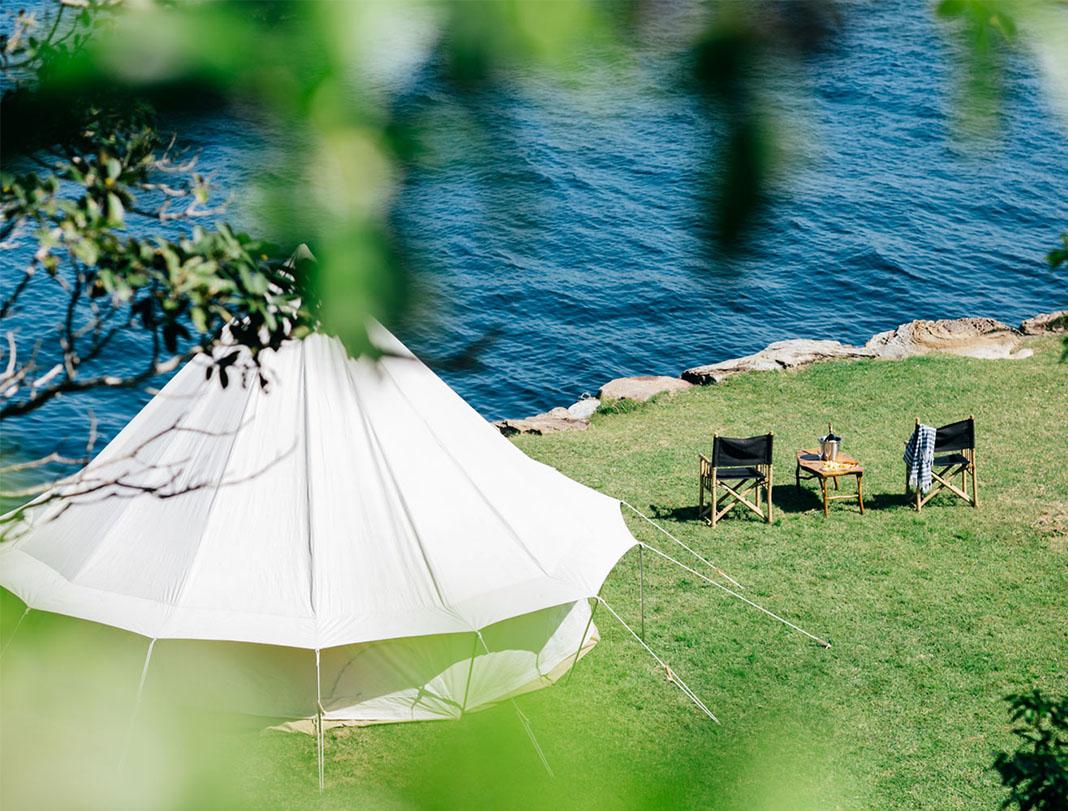 Glamping, Flash Camp, Sydney, Clarke Island, Three Blue Ducks