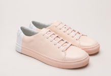 pastel pink sneakers, pink sneakers, THEY Two-tone blush sneakers, THEY NY