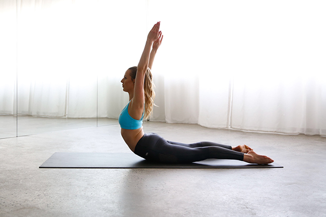 pilates precision, swan dive exercise, one hot yoga and pilates, one hot yoga, pilates workout