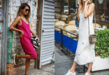 Slip dress, sneakers, fashion, trend