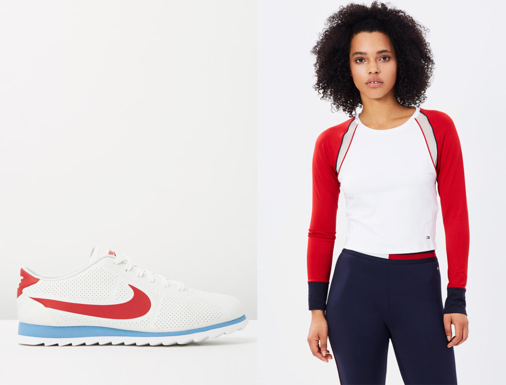 Tommy Hilfiger Ath Viviana Crew-Neck Long Sleeve Top, Tommy Hilfiger Ath Piped Running Leggings, the iconic, nike cortez ultra moire, tommy hilfiger ath leggings, tommy hilfiger ath top