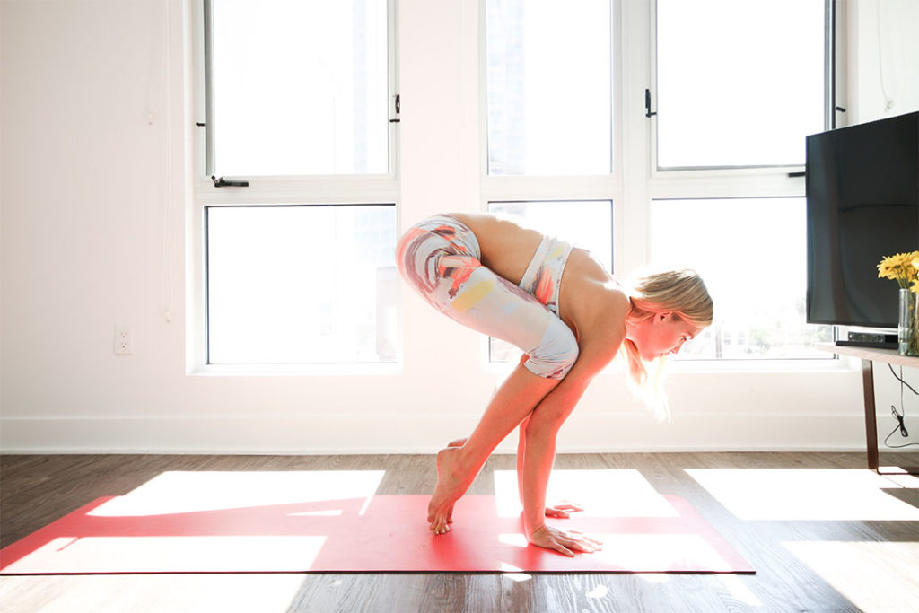 crow pose, claire grieve, how to get into crow pose, steps to crow pose