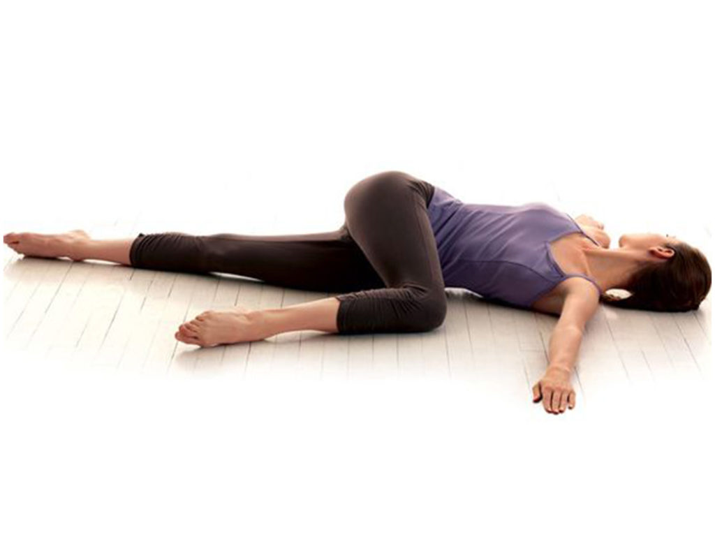 yoga poses for lower back pain, supine twist