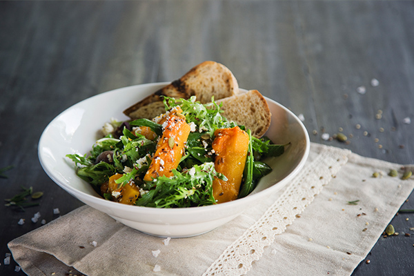 Lunch, salad, bad breath, oral health