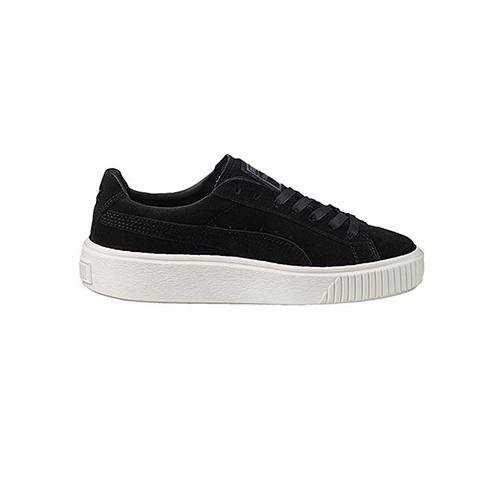 Puma Suede Platform Core, black sneakers