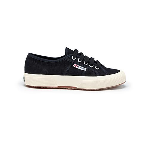 Superga, black canvas sneakers