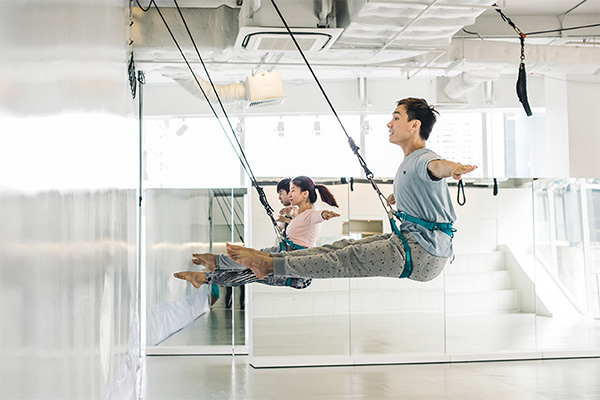Bungee Dance Class, core workout, exercise
