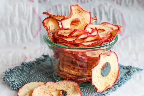 apple chips, how to make apple chips,