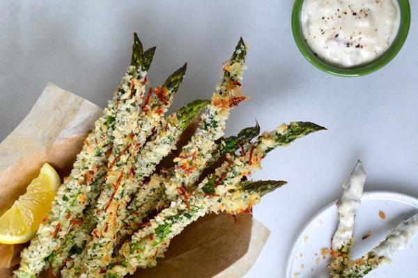 asparagus chips, asparagus fries, asparagus