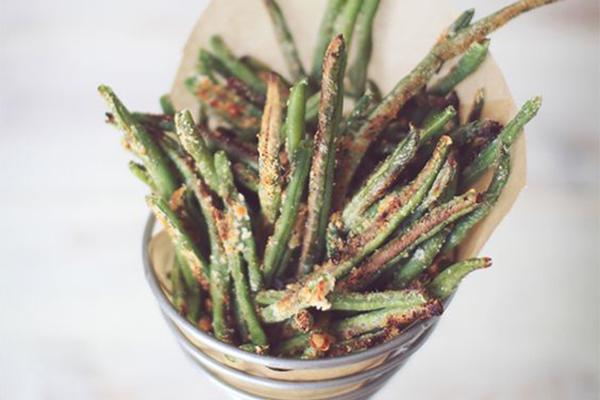 french fries alternative, green beans, green bean fries, green bean chips