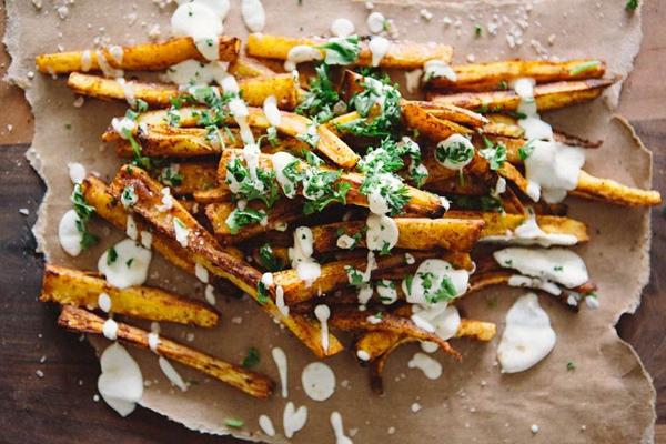 parsnip fries, parsnip chips,