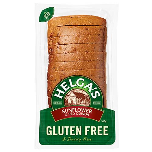 helga's gluten free bread, hell's sunflower and red quinoa,