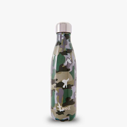 S'well, kale active wear, non-toxic water bottle, camo print