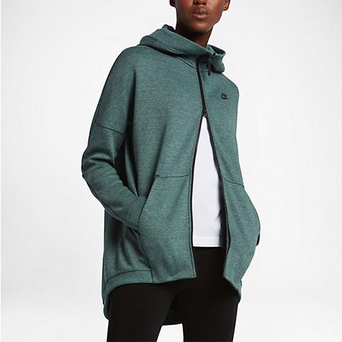 Nike Tech Fleece Cape, kale active wear, green jacket