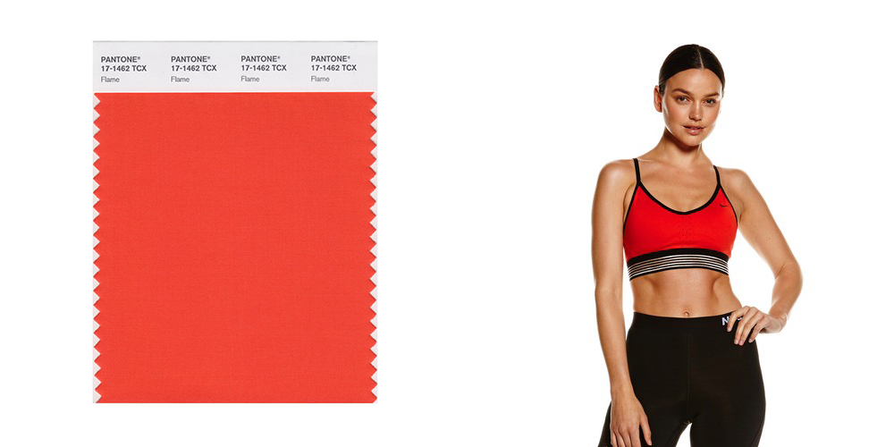 Flame, Nike sports bra, colours, Pantone