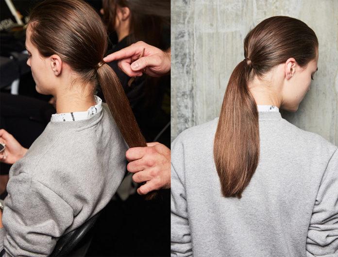 Aveda, ponytail, hairstyle, sleek hair