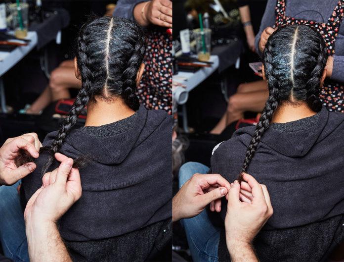 Braids, french braid, Aveda, hairstyle workout