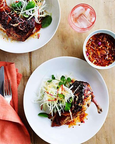 Char-Grilled Palm-Sugar Chicken, chicken recipes, Gourmet Traveller