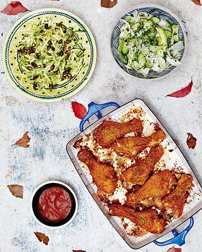 Pablo's Chicken, Hemsley + Hemsley, chicken recipe, fried chicken