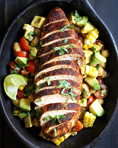 Blackened Chicken Fiesta Salad, chicken recipe