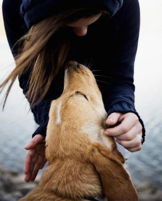 self care sundays, girl with dog