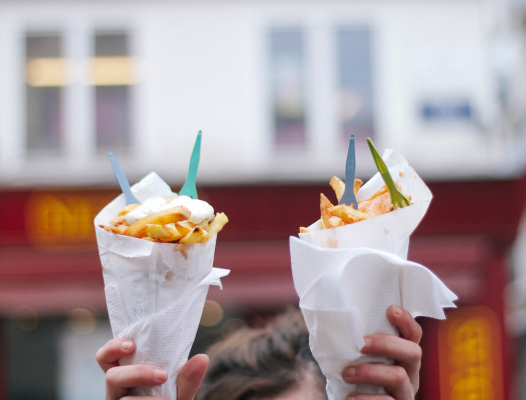 chips, hot chips, french fries