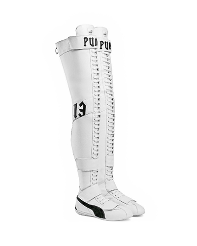 PUMA x Rihanna Fenty Eskiva Over The Knee Boot, Julie Stevanja, Stylerunner, sneakers, athleisure