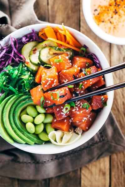 poke bowl, poke bowl recipe, nourish bowl recipe,