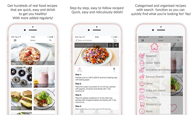 Get Merry, recipe apps, The Merrymaker Sisters, healthy food, dinner, lunch, breakfast