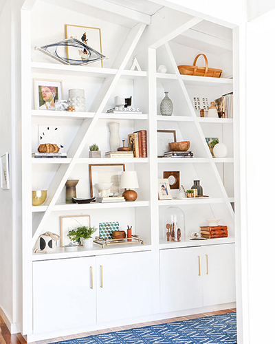 Shelf, styling, interior design, bookshelf