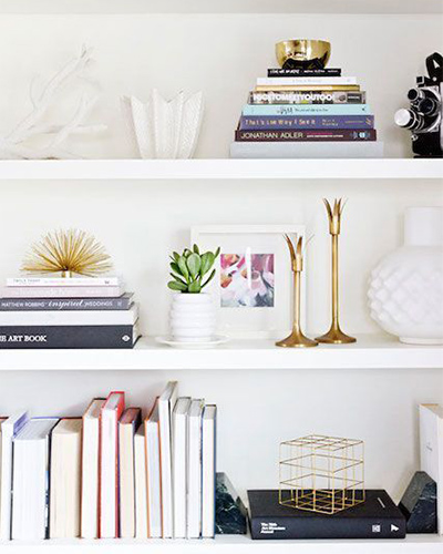 Shelf, bookshelf styling, interior design