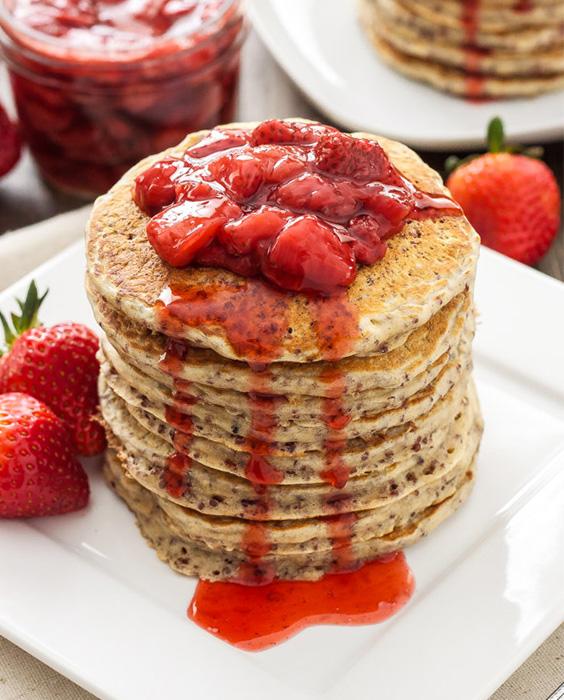pancakes, healthy pancakes, quinoa pancakes